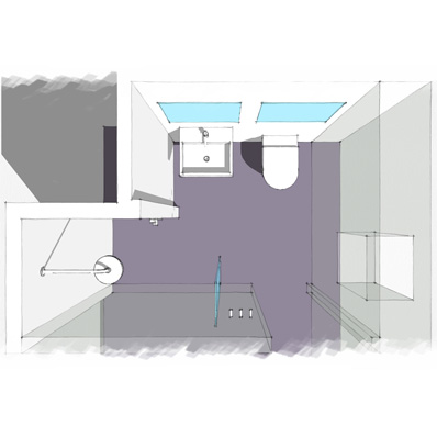 Liquid Design 3D design of EnSuite shower room produced in-house